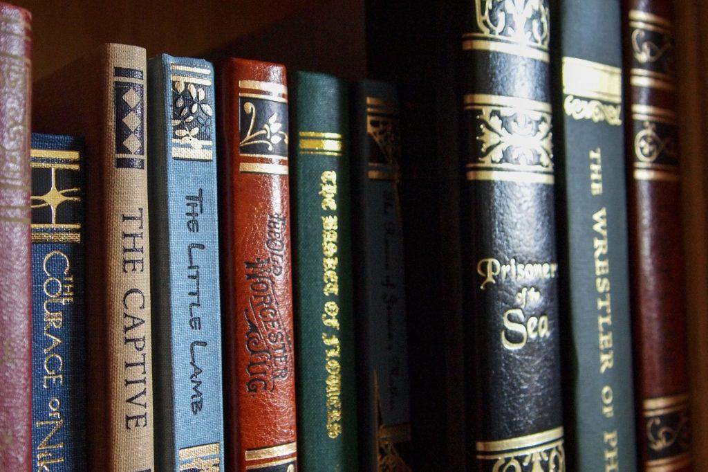 row of books | Books versus movies