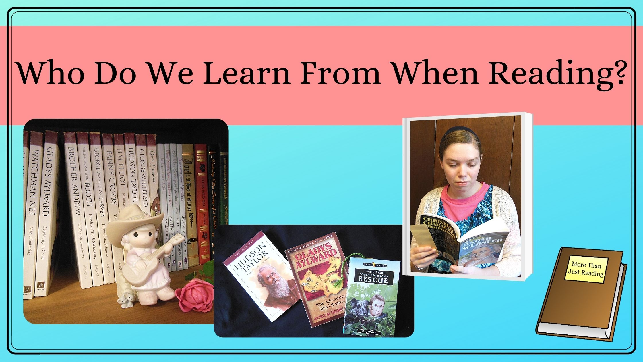 Who do we learn from when reading?