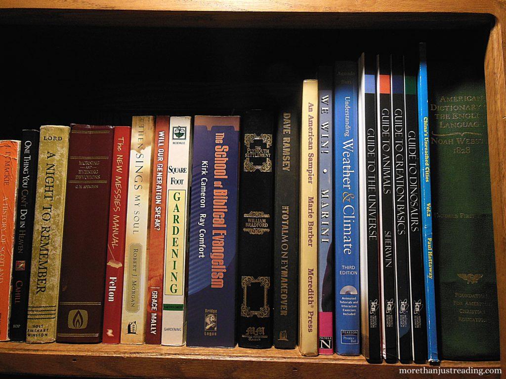 Row of books on a shelf | Vocabulary