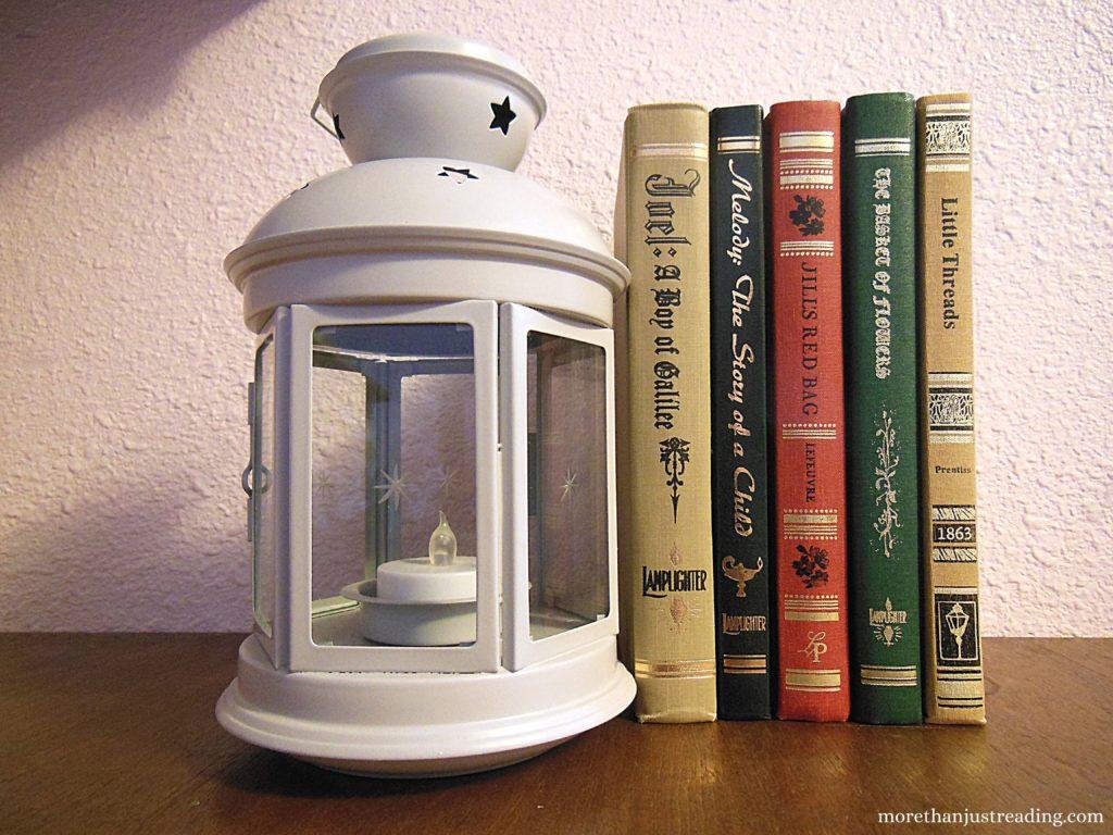 Row of books next to white lantern | Reading resources