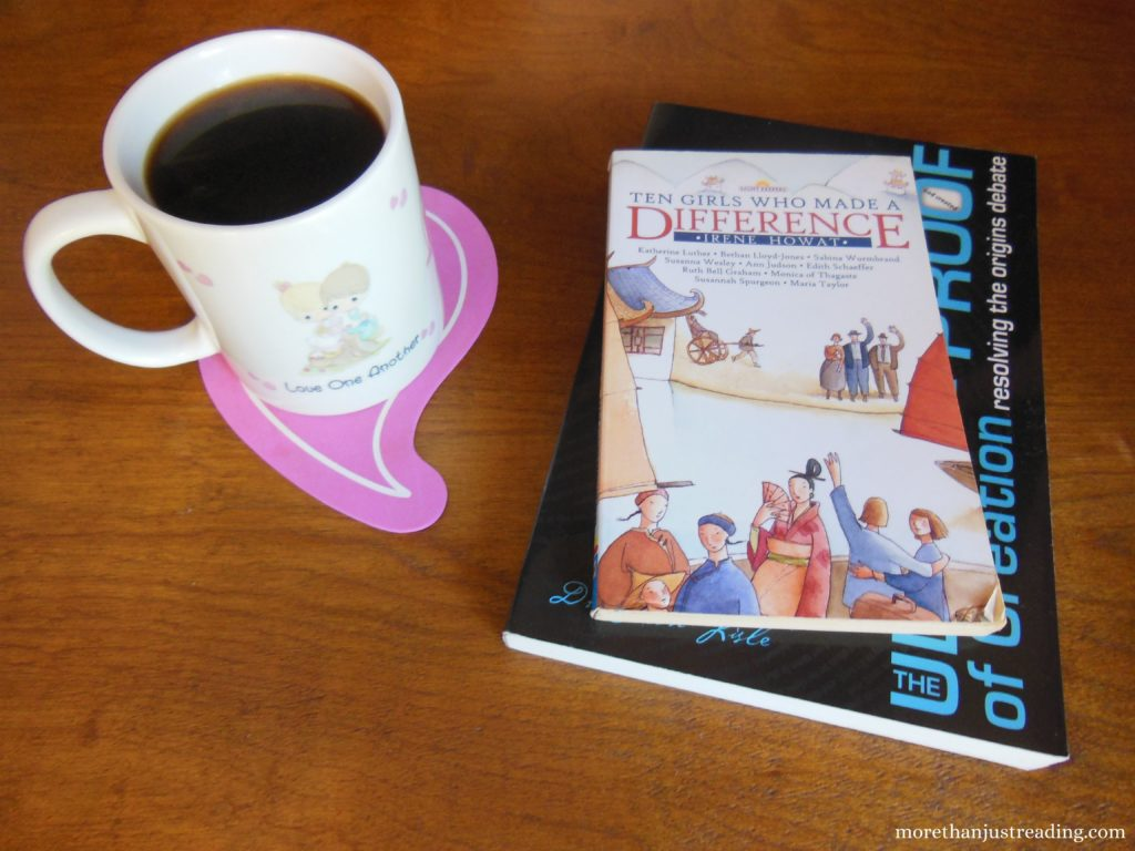 Two books and a cup of coffee