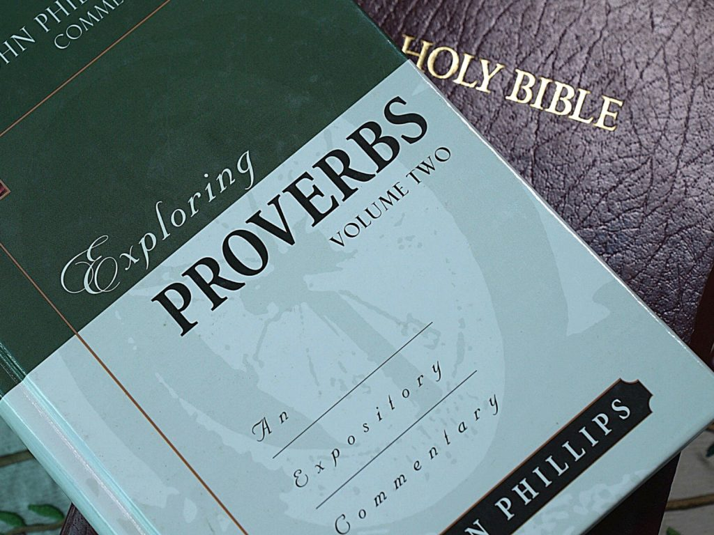 A Bible with a commentary