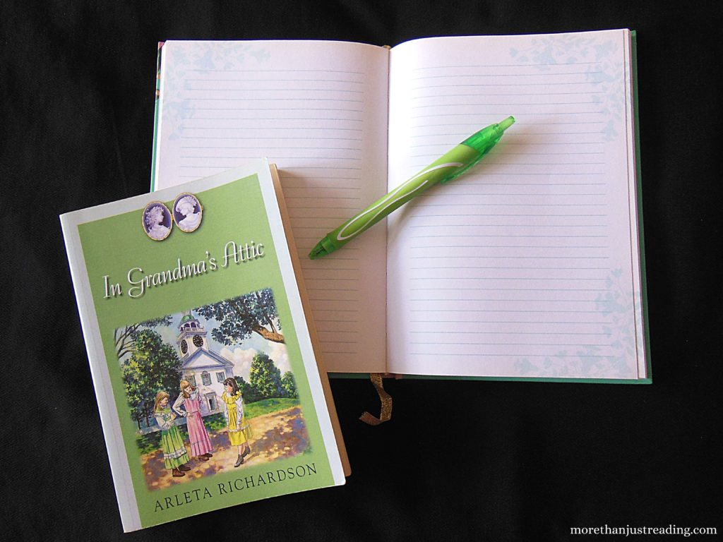 A notebook, pen, and book   Reading and writing
