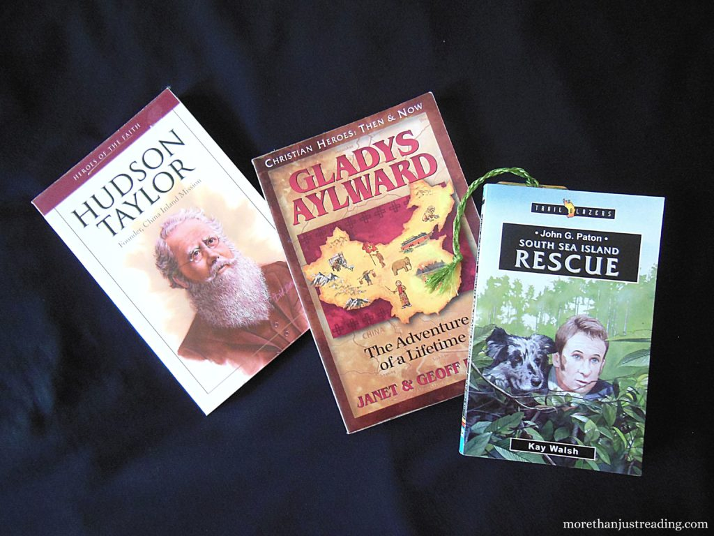 Three missionary biographies that can be read aloud, helping auditory learners