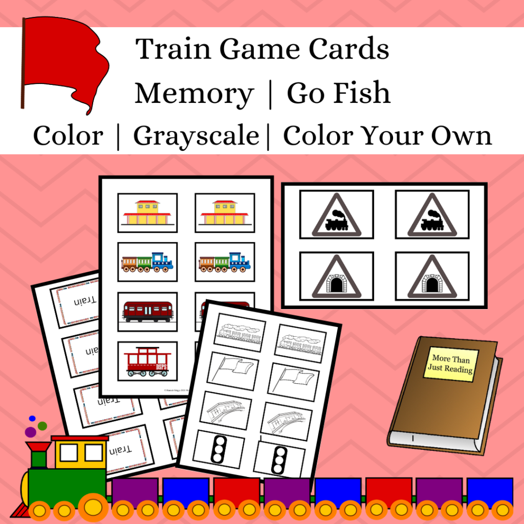 Printable Game Cards for Memory & Go Fish