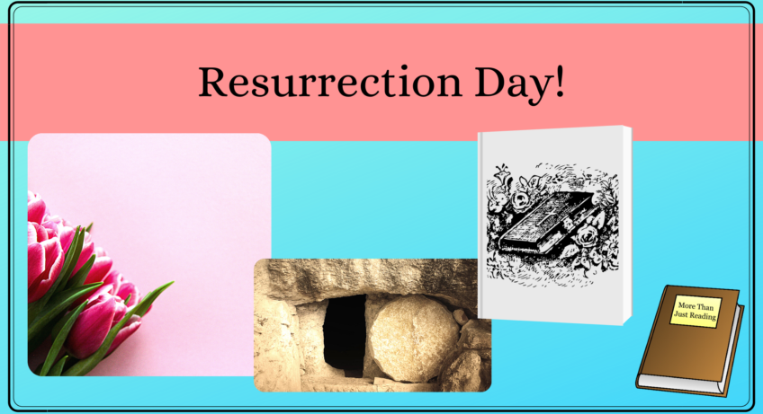 empty tomb, tulips, and Bible | Resurrection Day