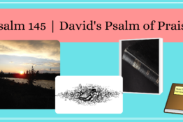 Banner with sunset and Bibles   Psalm 45