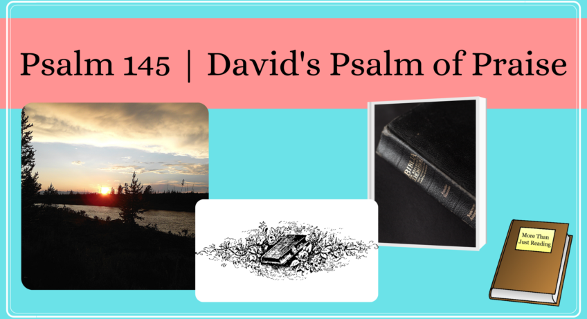 Banner with sunset and Bibles | Psalm 45