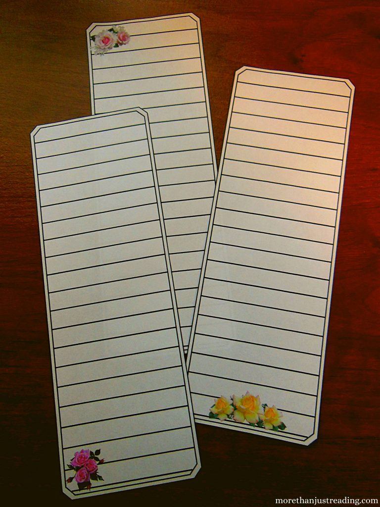 Bible study bookmarks