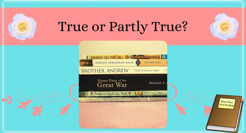 stack of books | historical fiction versus biographies
