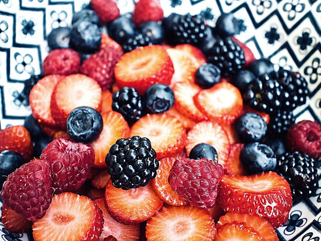 a berry assortment, indoor summer activities