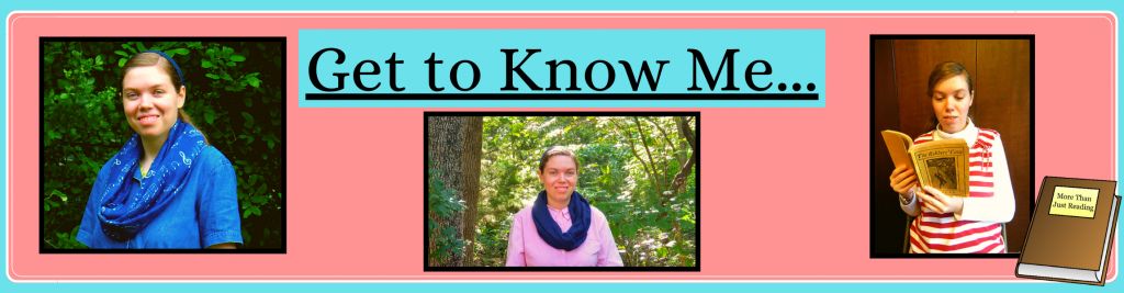 three pictures of the blog author | More Than Just Reading
