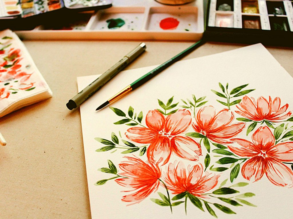watercolor project, indoor summer activities