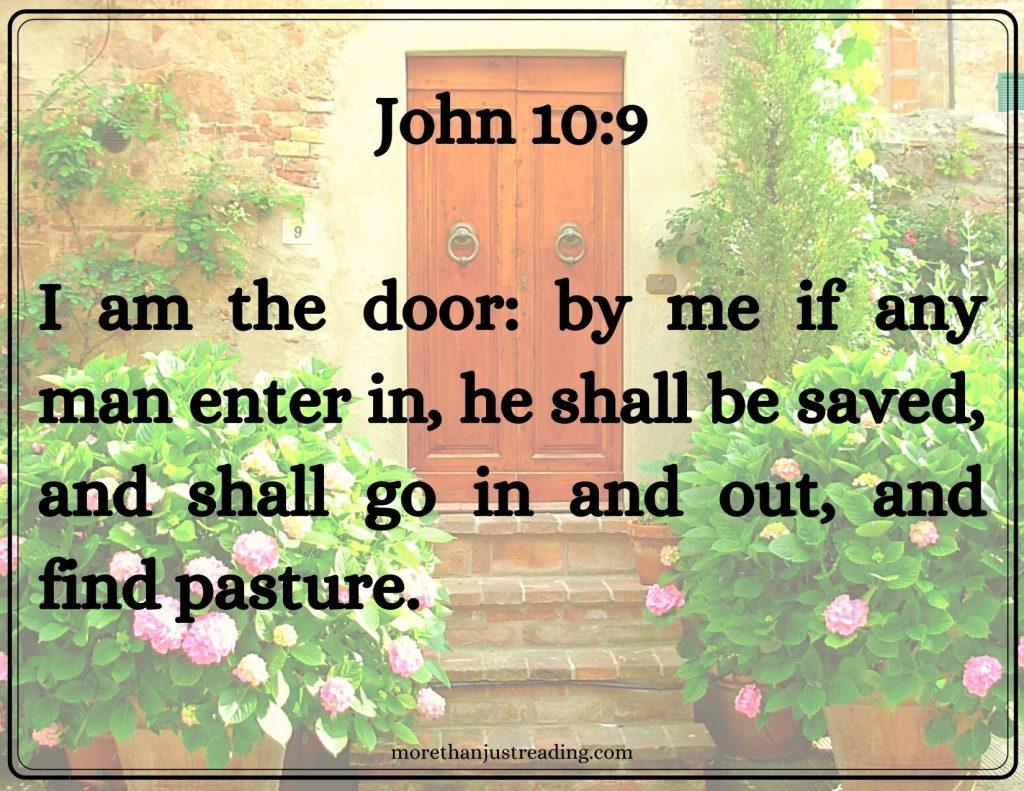 John 10:9 door | praising God