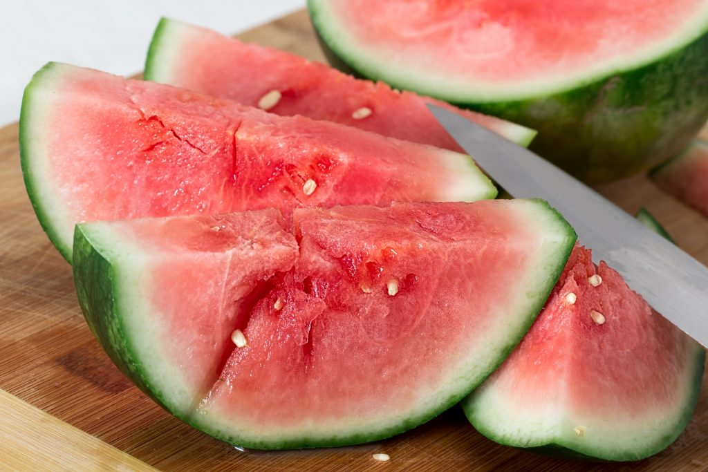 Watermelon slices and a knife | Good writing